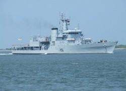 Largest-ever Indian Naval flotilla arrives in Sri Lanka